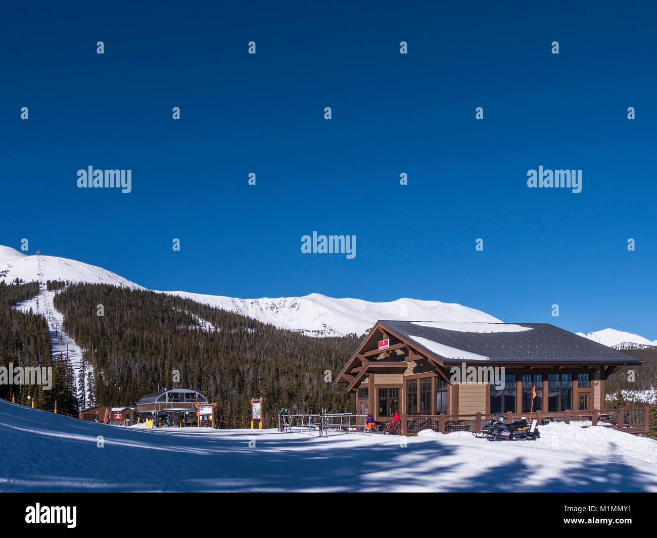 Horizon Hut at the base of Peak 6, Breckenridge Ski Resort, Breckenridge, Colorado. - Stock Image