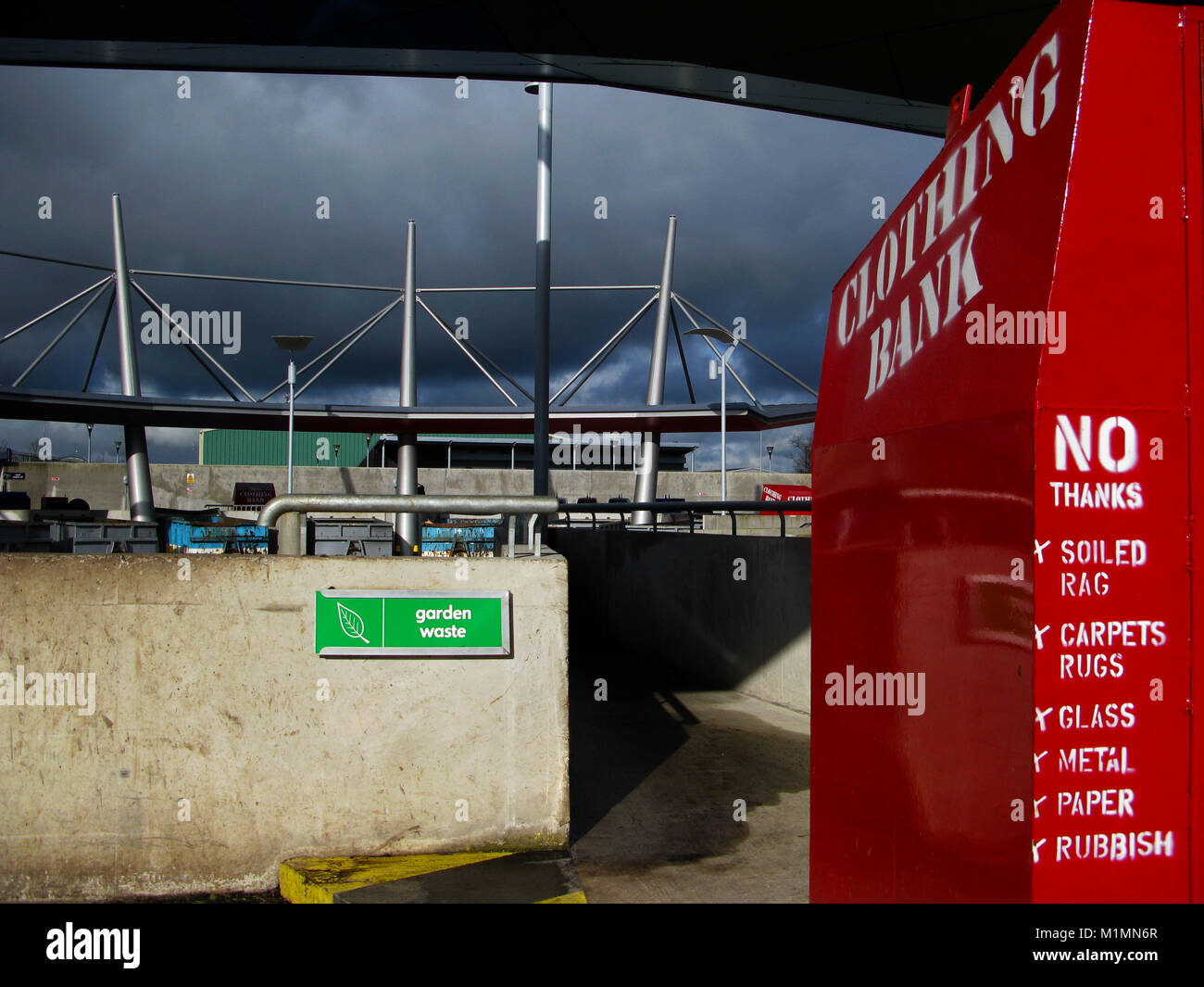 Refuse and recycling centre, Bangor, Northern Ireland, UK - Stock Image