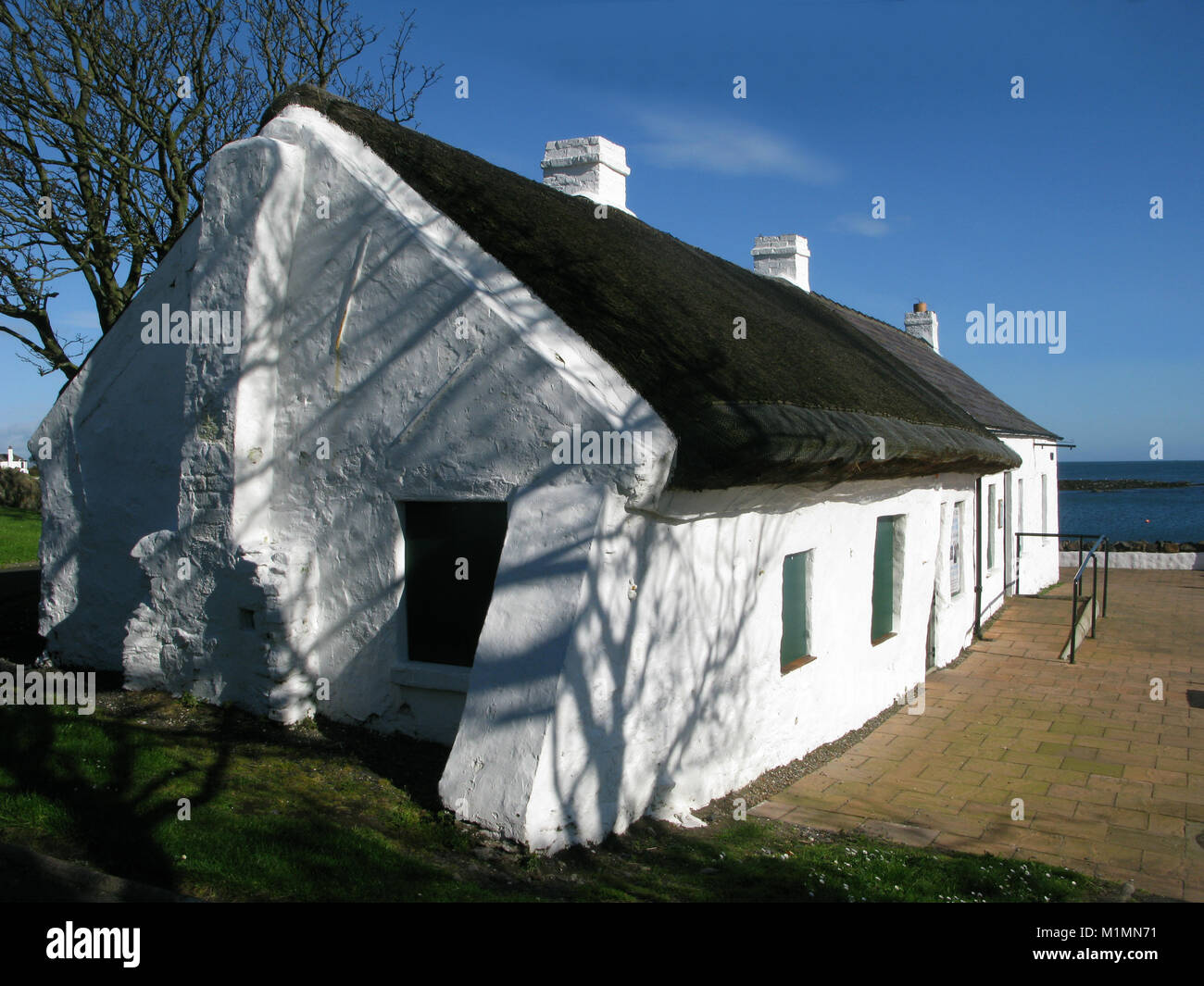 Cockle Row Cottages, Groomsport, Bangor, Northern Ireland, UK - Stock Image
