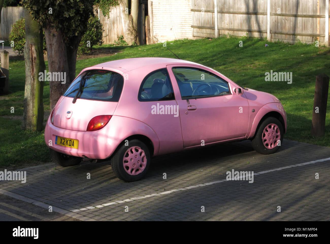 Pink car Stock Photo