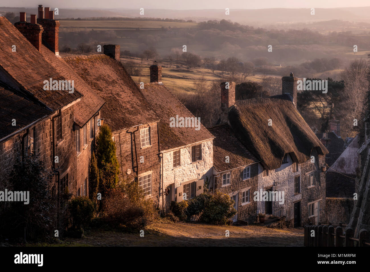 Shaftesbury, Gold Hill, Dorset, England, United Kingdom - Stock Image