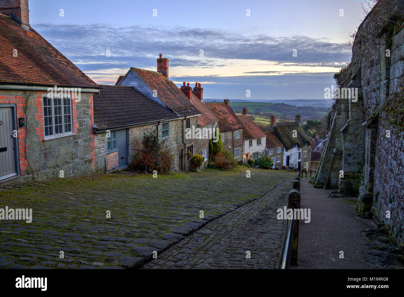 Shaftesbury, Gold Hill, Dorset, England, United Kingdom Stock Photo