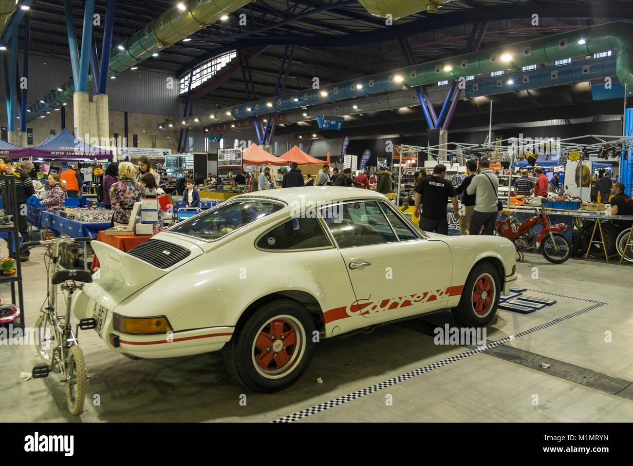 Porsche 911. Retro Málaga 2018. - Stock Image