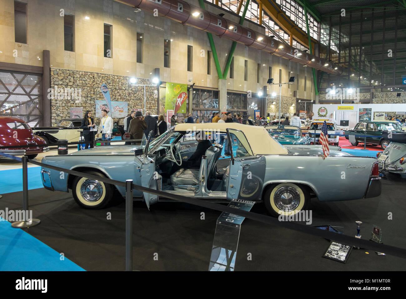 Lincoln Continental Convertible. Retro Málaga 2018. Spain. - Stock Image