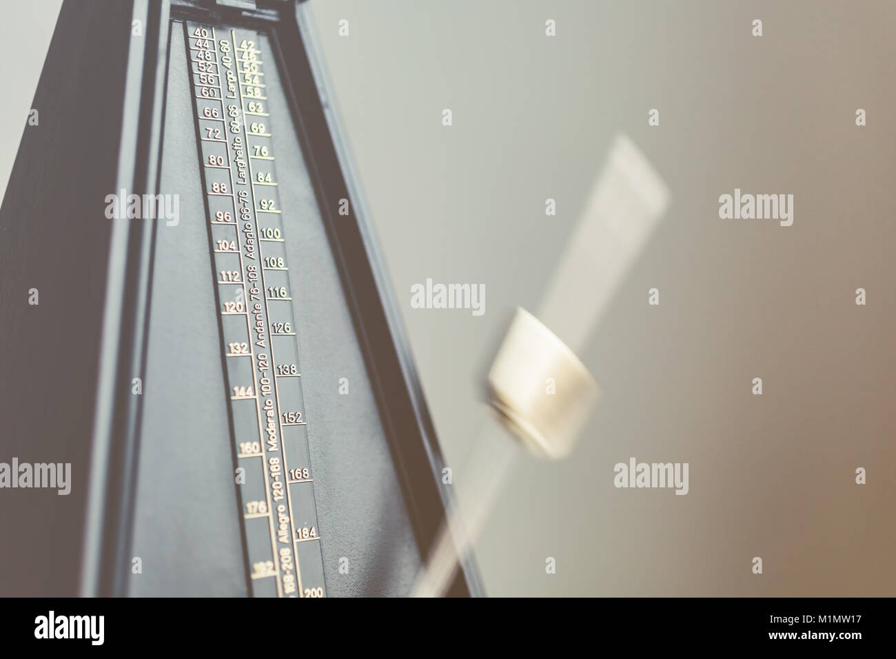Color shot of a vintage metronome - Stock Image