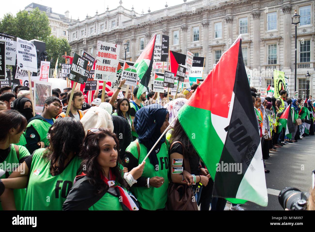 Starting line, Free Gaza Demo - Stock Image
