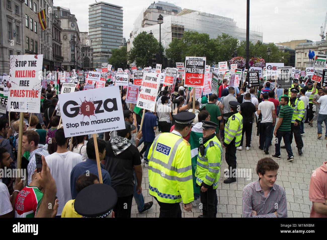 Gaza Demo - Free Palestine - Stock Image