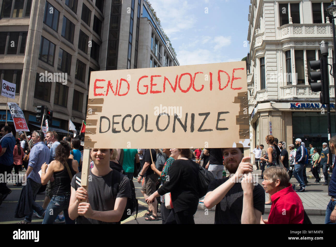 End Genocide - Free Gaza Demo - Stock Image