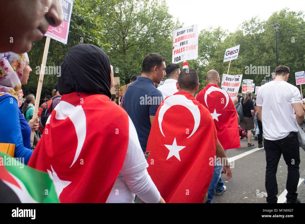 Free Gaza Demo - Stock Image