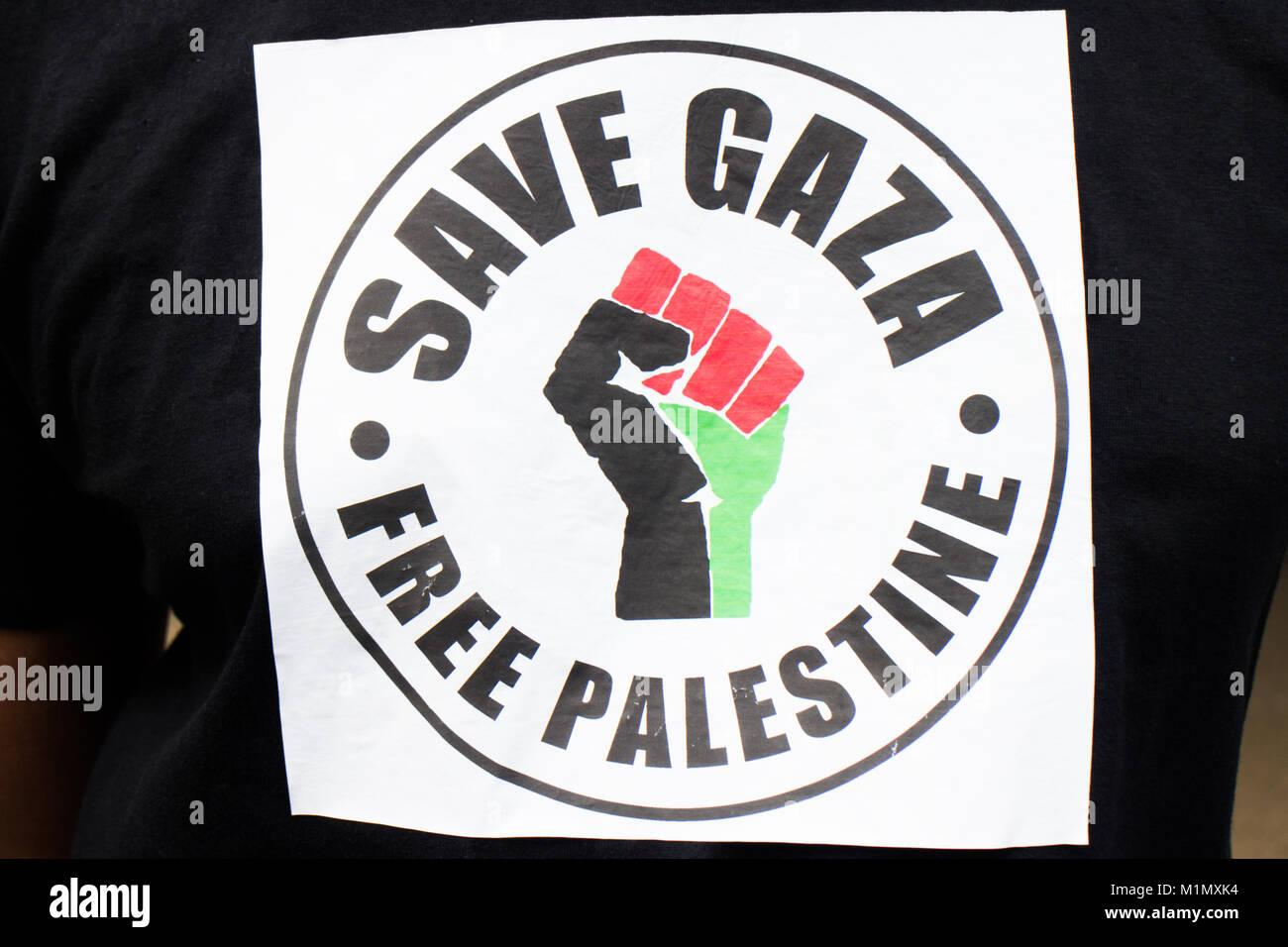 Save Gaza - Stock Image
