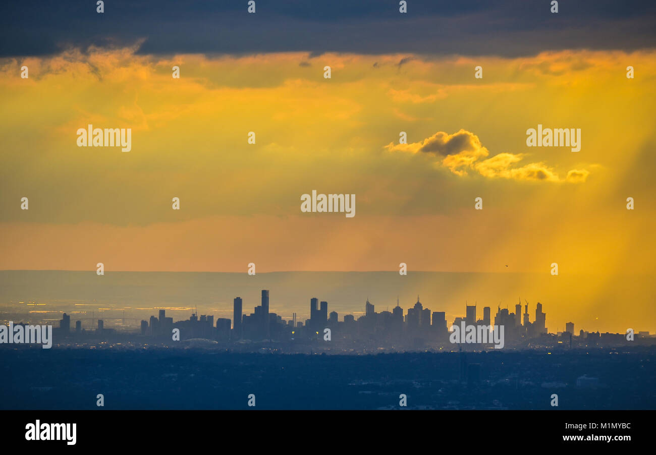 Golden Melbourne - Stock Image