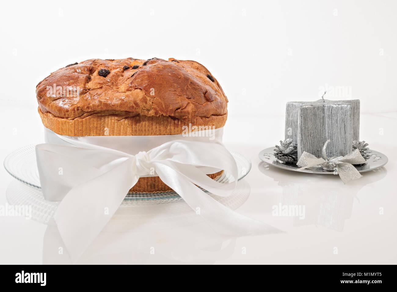 Chocolate Panettone Traditional Italian Christmas Stock Photos ...