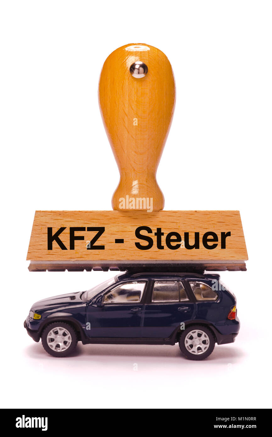 Stempel beschriftet mit KFZ-Steuer - Stock Image