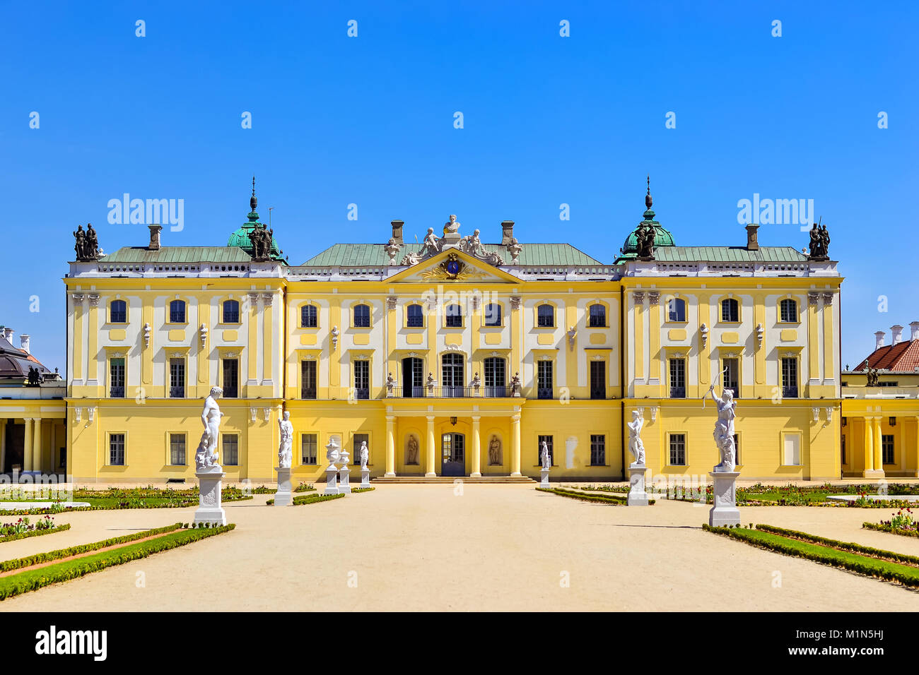 Branicki Palace and Medical University of Bialystok Clinical Hospitals in Poland. Architecture of baroque mansions Stock Photo
