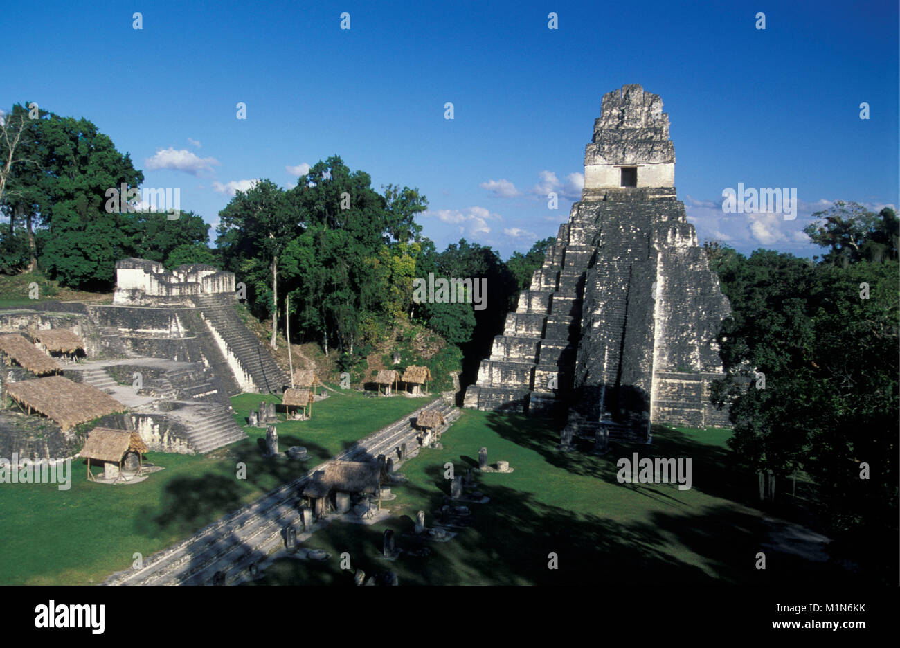 Guatemala. Tikal. Maya ruins, pyramids. - Stock Image
