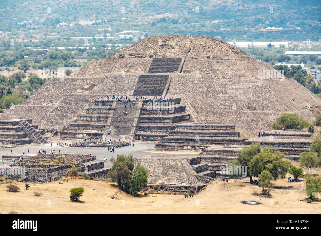 Pyramid of the Sun, Teotihuacán, Mexico City, Mexico - Stock Image