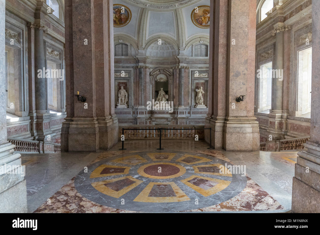 The atrium of the Royal Palace of Caserta Stock Photo
