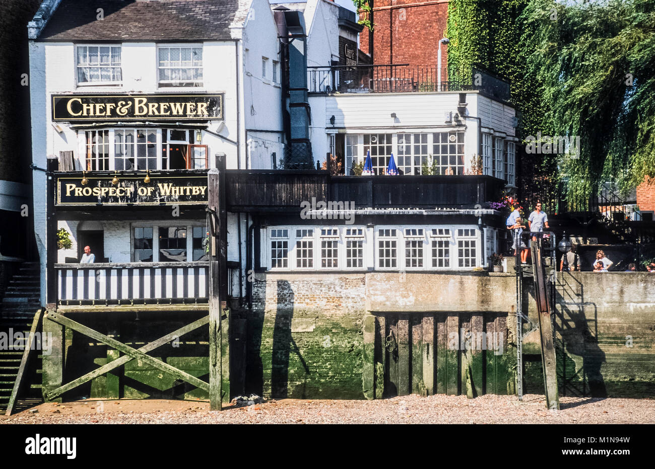 The Prospect of Whitby one of the oldest public houses in London and the oldest riverside pub on the Thames. - Stock Image
