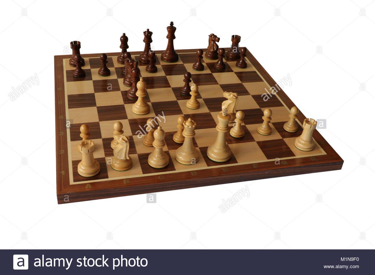 Chess opening. Giuoco Piano. - Stock Image