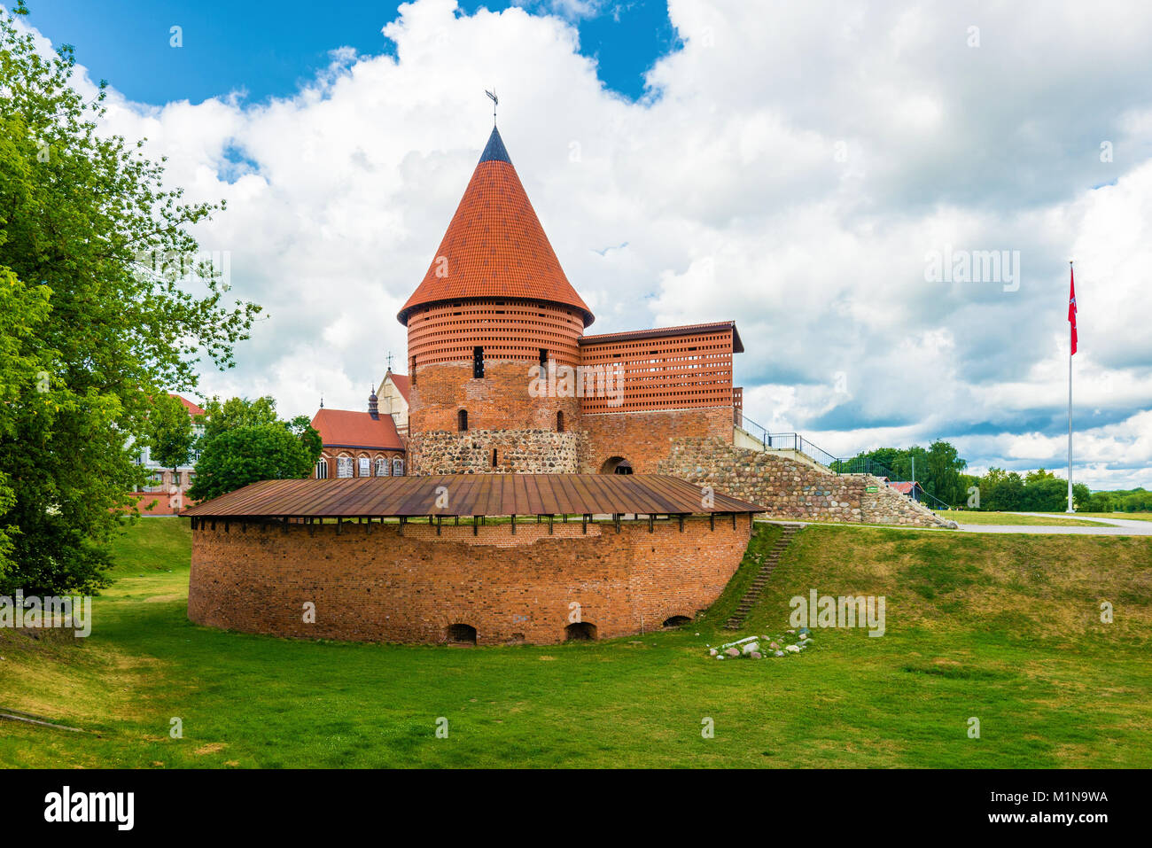 Kaunas Castle Wide Angle View - Stock Image