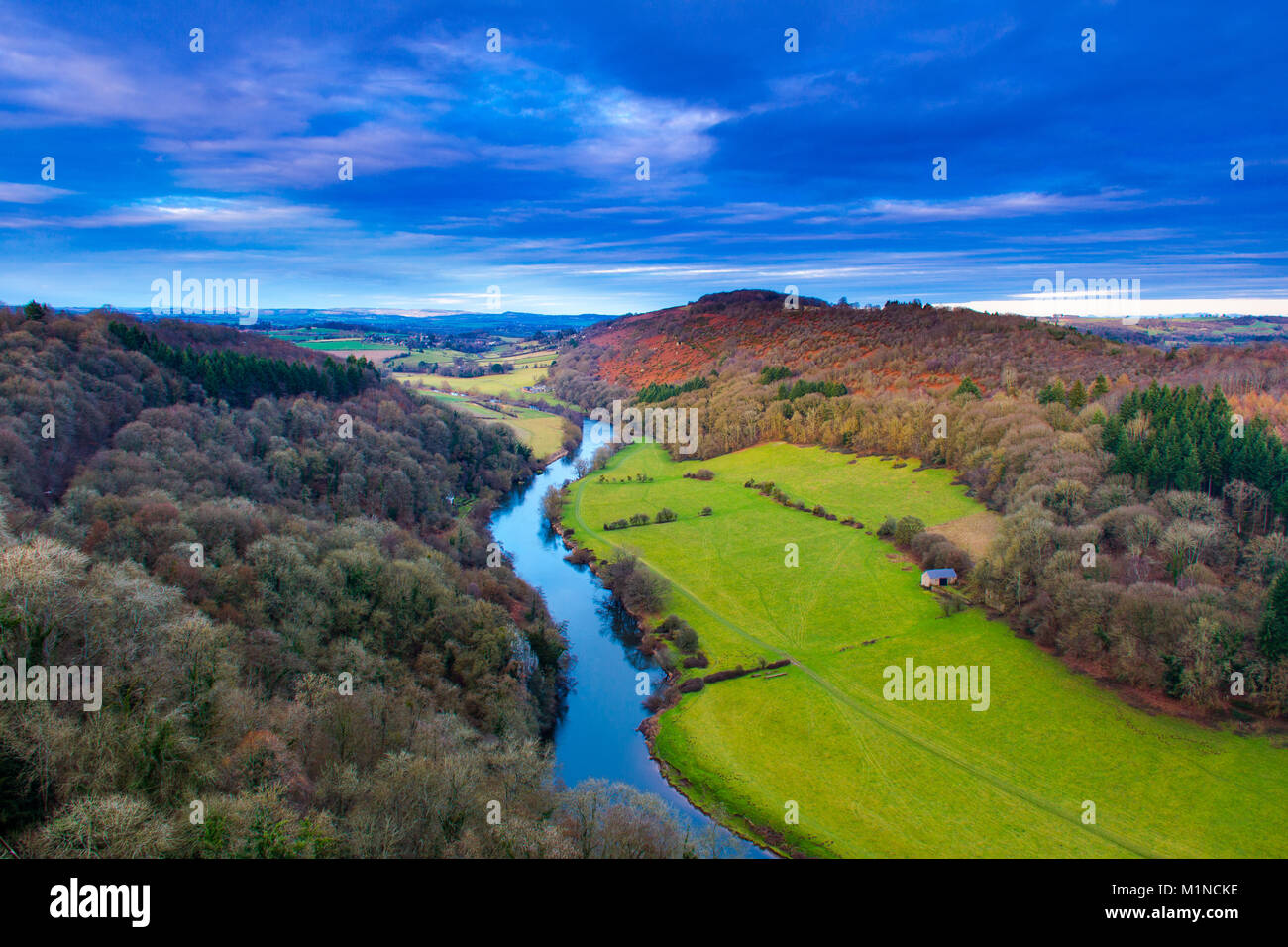 view over river wye coppets hill from Symonds Yat - Stock Image