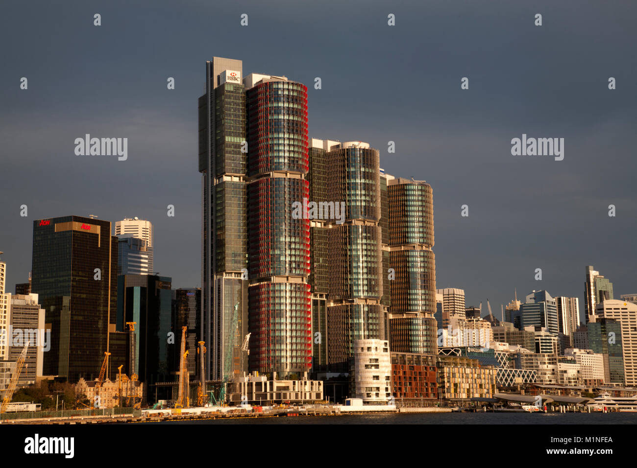 barangaroo darling harbour sydney new south wales australia - Stock Image