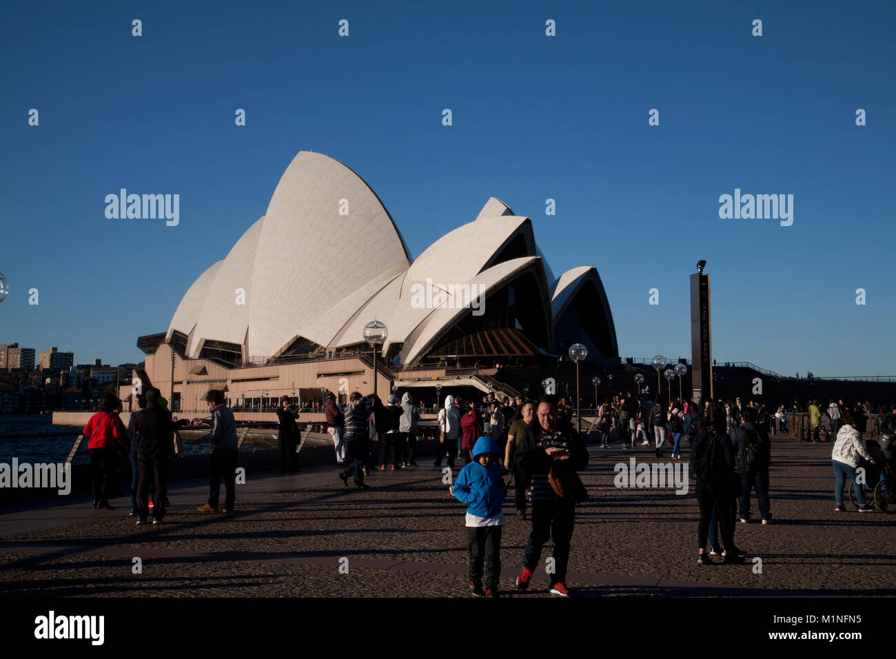 writers walk sydney opera house circular quay sydney new south wales australia - Stock Image