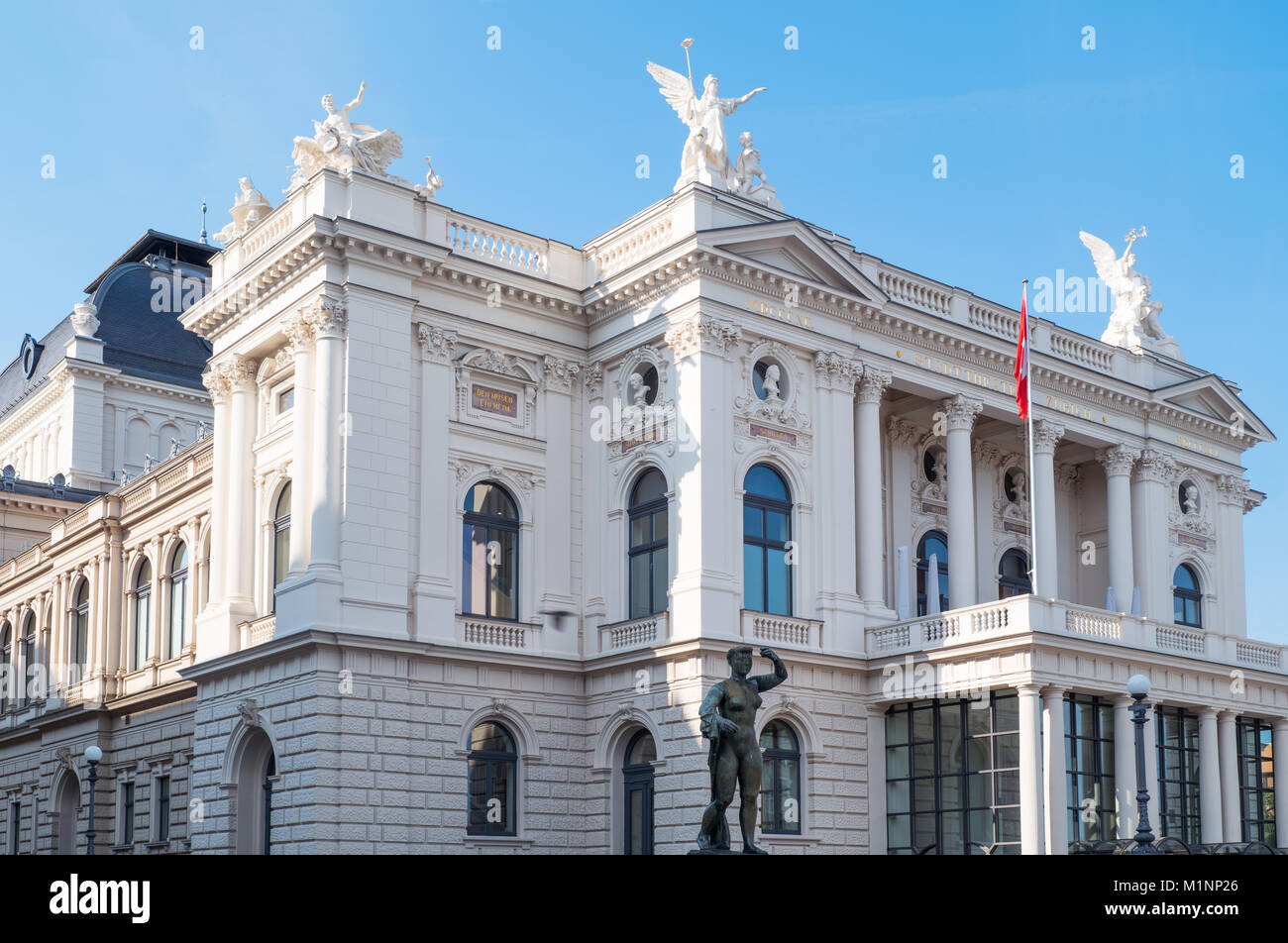 Zurich, Switzerland, the Opernhaus theater - Stock Image