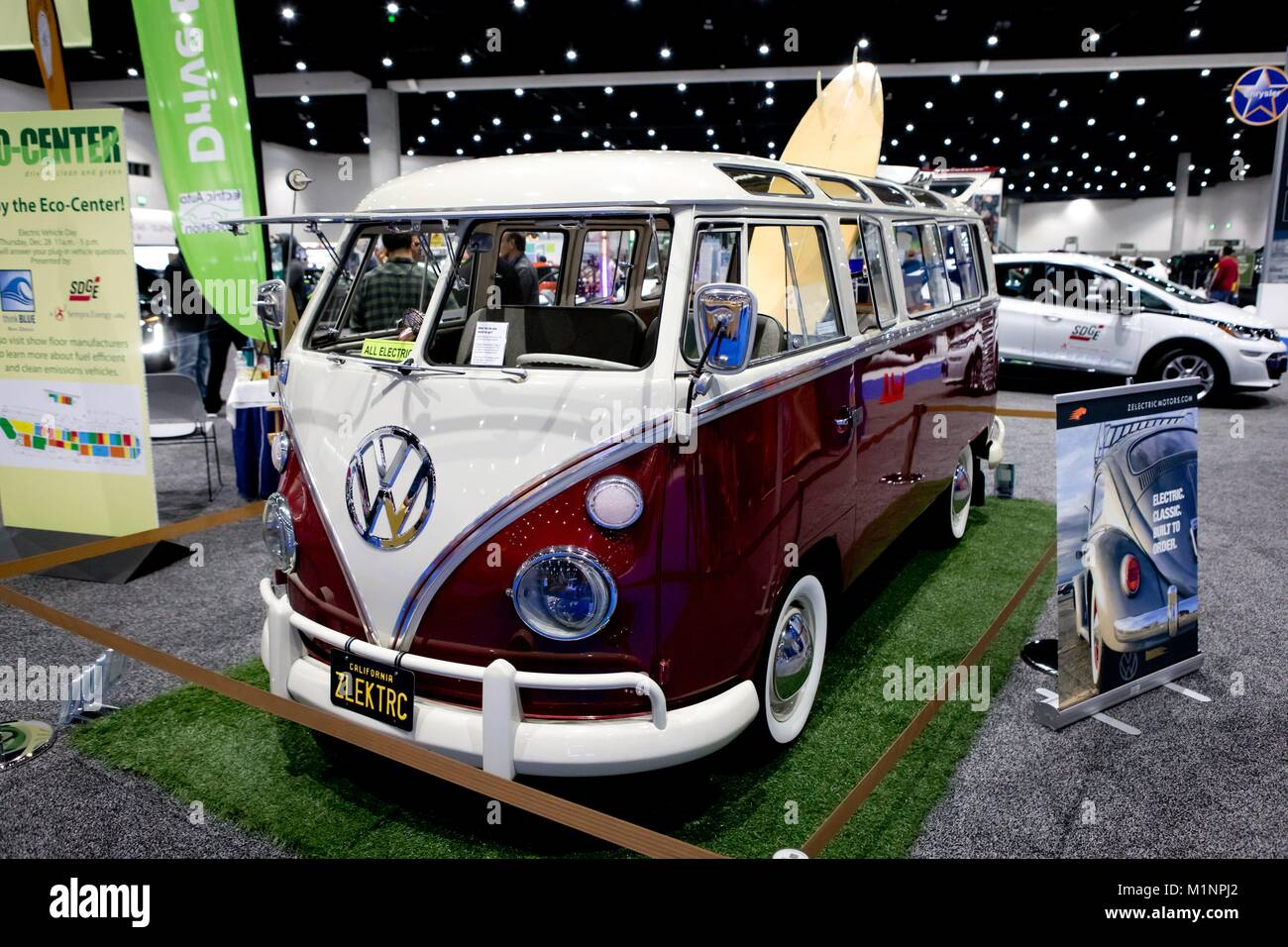 Electric-Powered 1967 vintage Volkswagen Bus, transformed by Stock ...