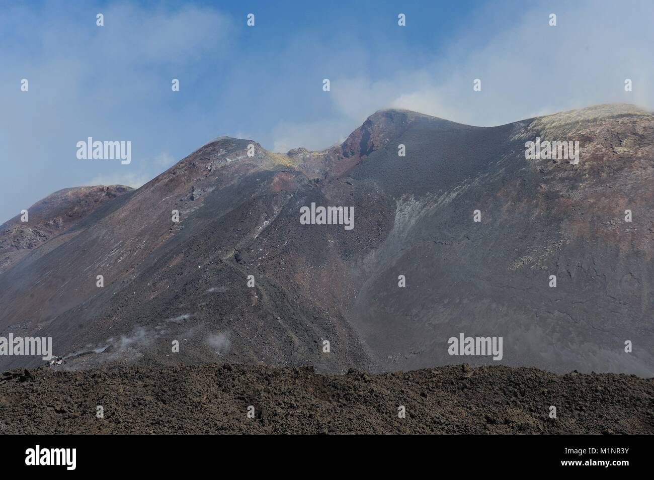 Italy, Sicily, Mount Etna Volcano, lava fields - October 2017   usage worldwide - Stock Image