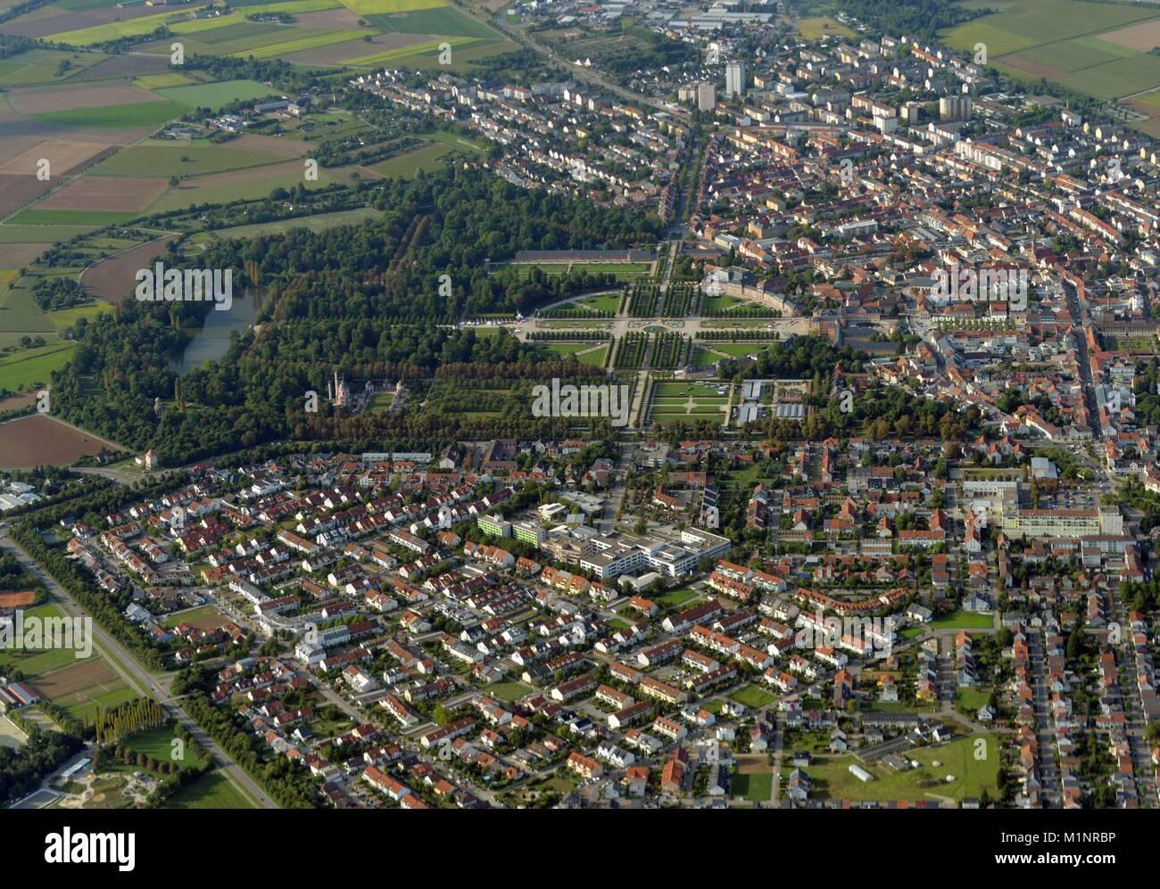 Schwetzingen palace and garden with city of Schwetzingen  Germany, September 01,2017 | usage worldwide - Stock Image