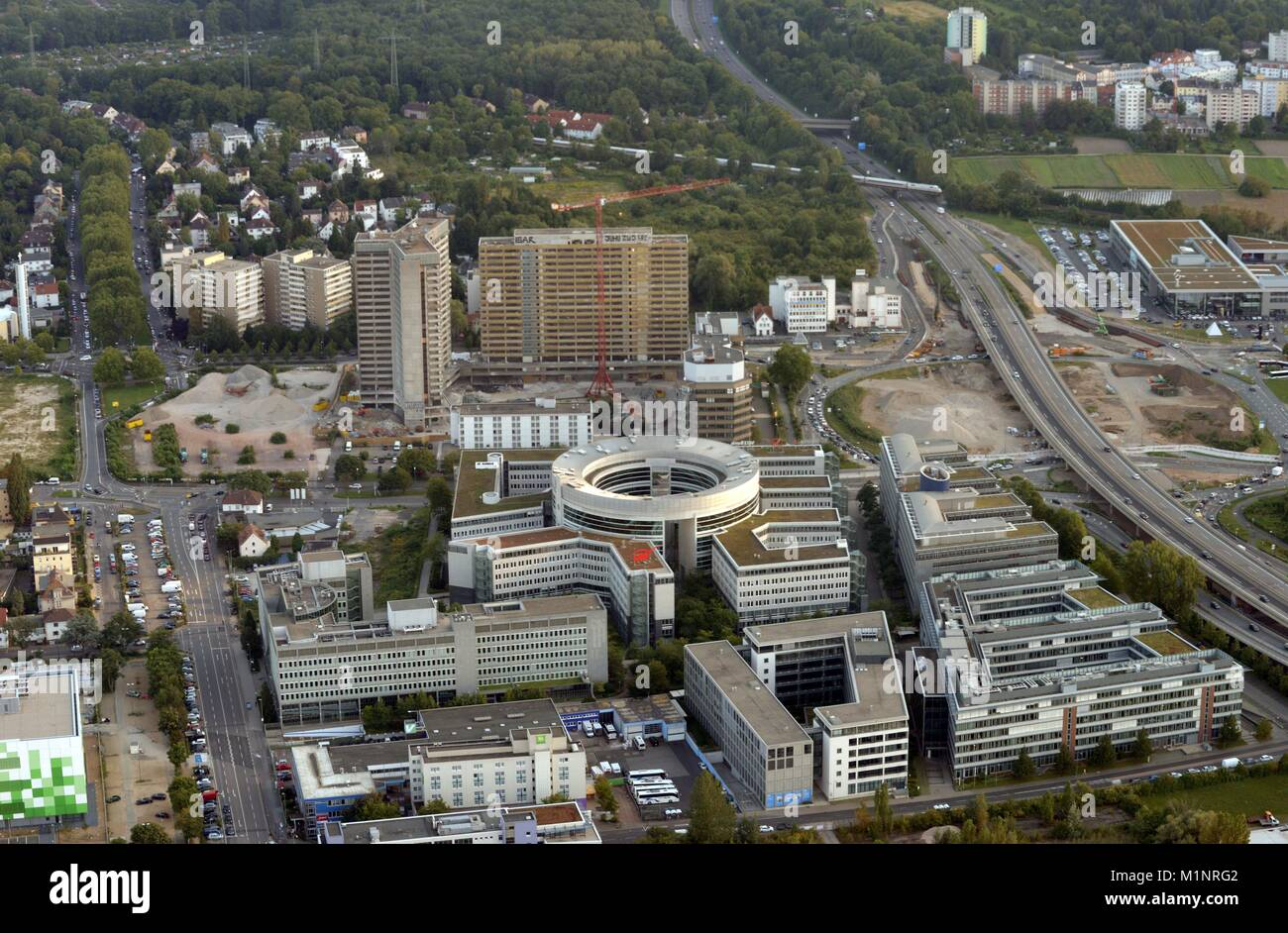 Aereal View Of Office Blocks In Offenbach Am Main Germany