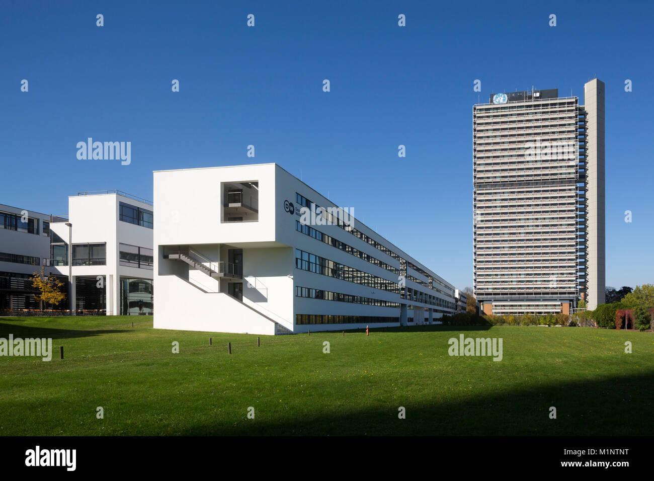 """Bonn, Regierungsviertel (Bundesviertel, Parlamentsviertel), """"Schürmann-Bau, Sitz des Senders """"""""Deutsche Welle"""""""", Stock Photo"""
