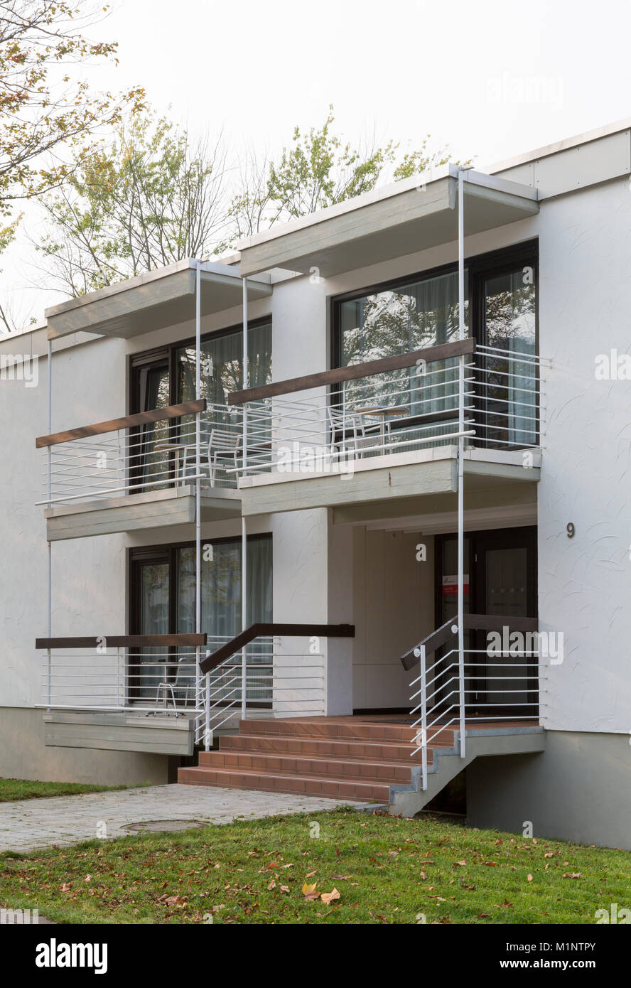 Bonn, Regierungsviertel (Bundesviertel, Parlamentsviertel), Abgeordneten-Appartementhäuser, Heussallee 9, 1964/66 - Stock Image