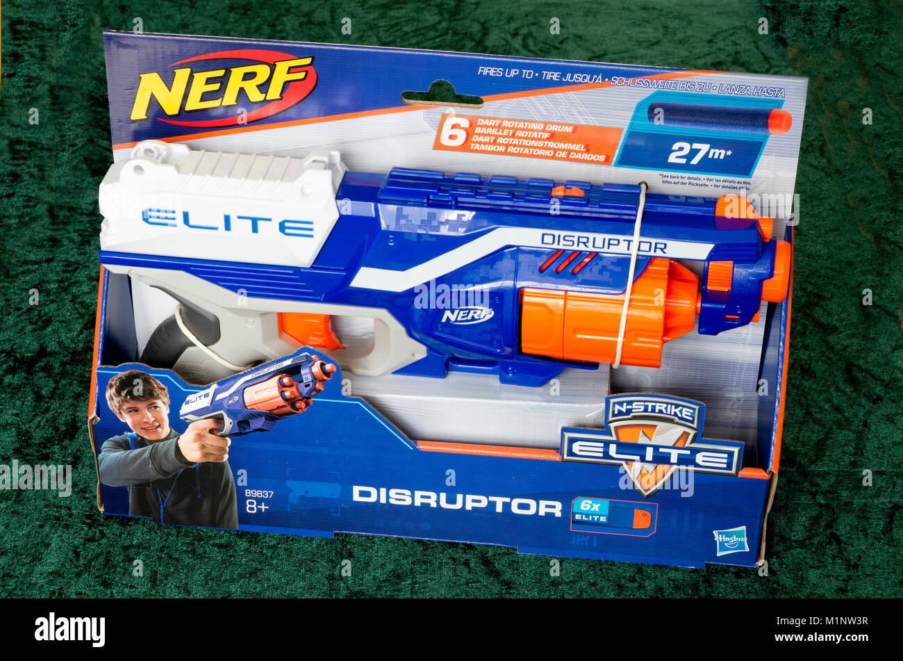 Nerf Elite Disruptor Foam Pellet Dart Toy Gun - Stock Image