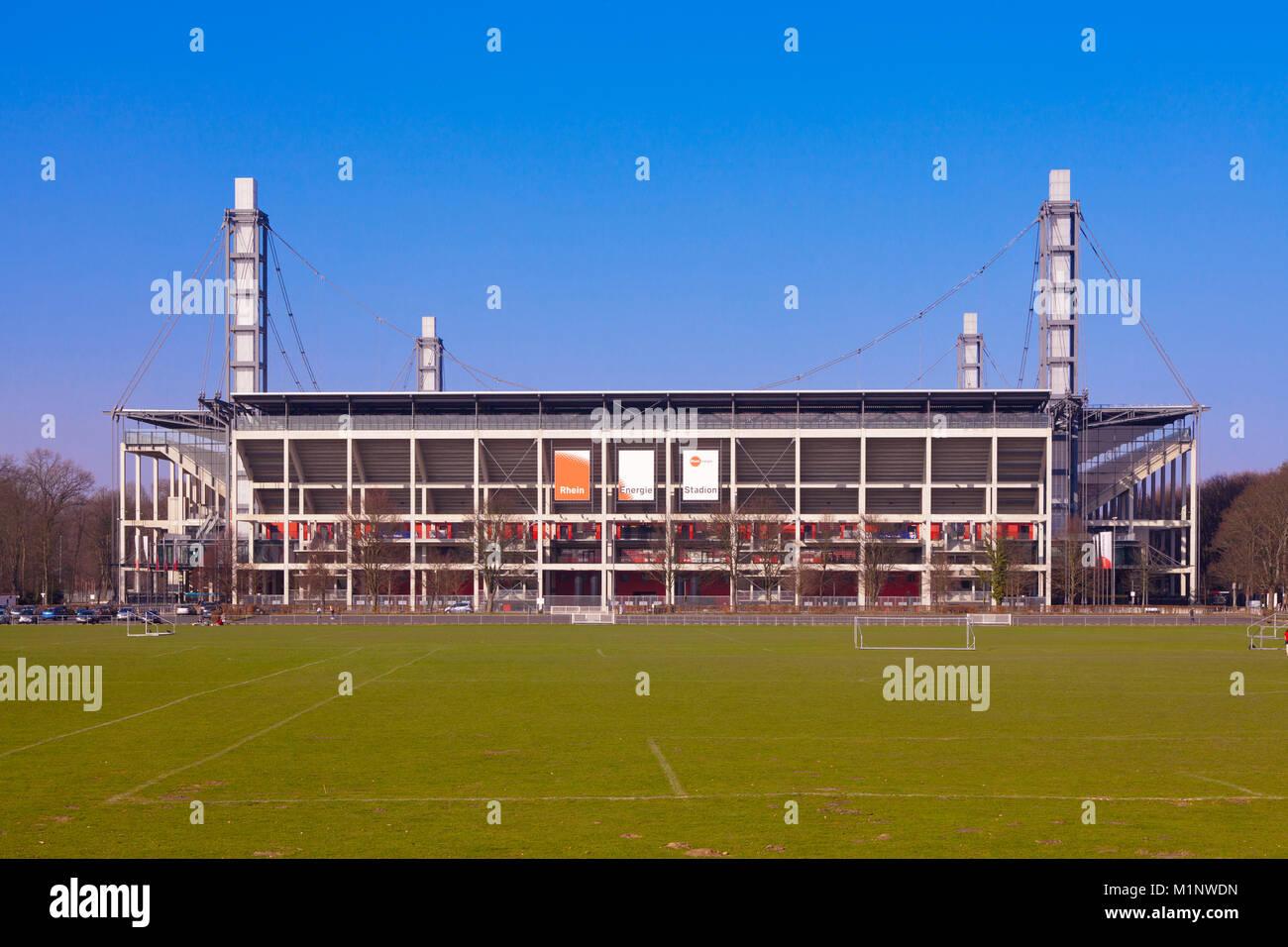 Germany, Cologne, the Rhein-Energie Stadium, formerly known as Muengersdorfer Stadium.  Deutschland, Koeln, das - Stock Image