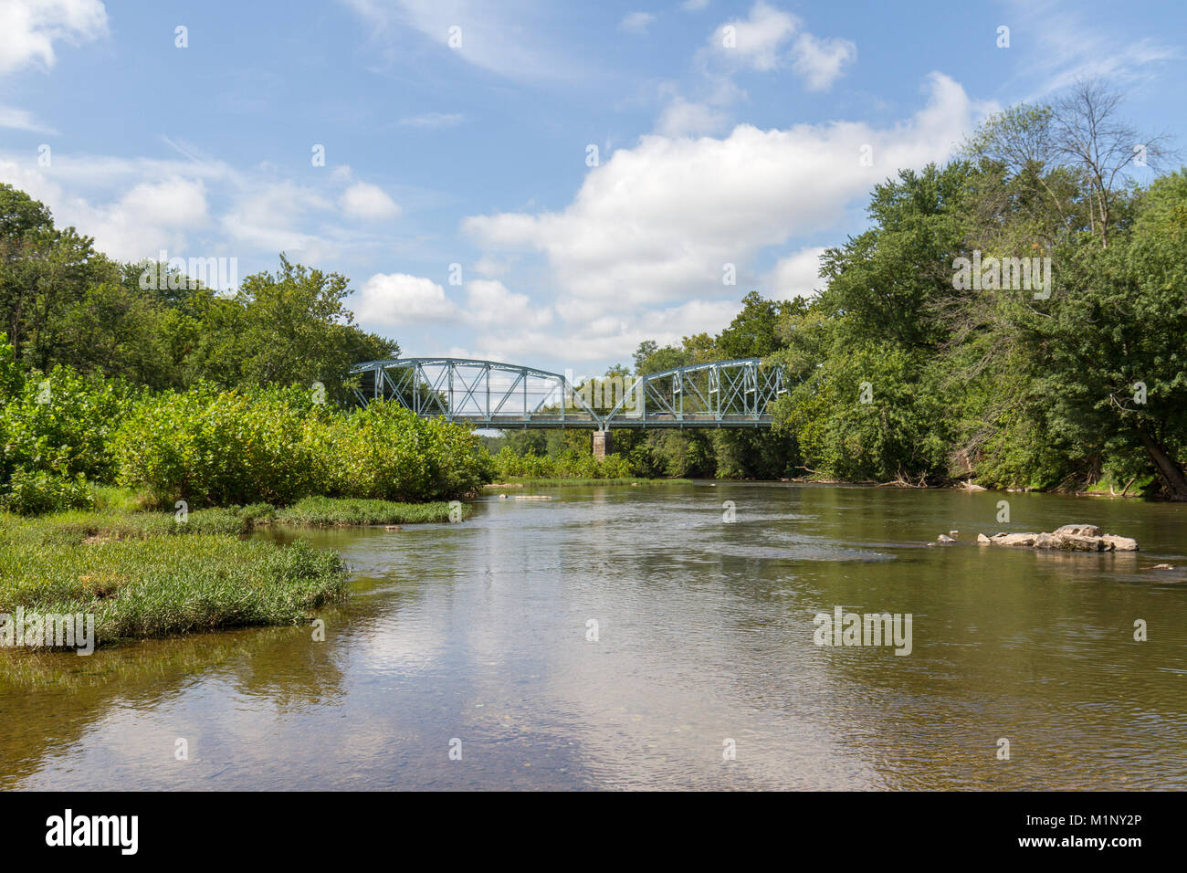 The Urbana Pike (MD 355) road bridge over the Monocacy River, Monocacy National Battlefield, Frederick, MD, USA - Stock Image