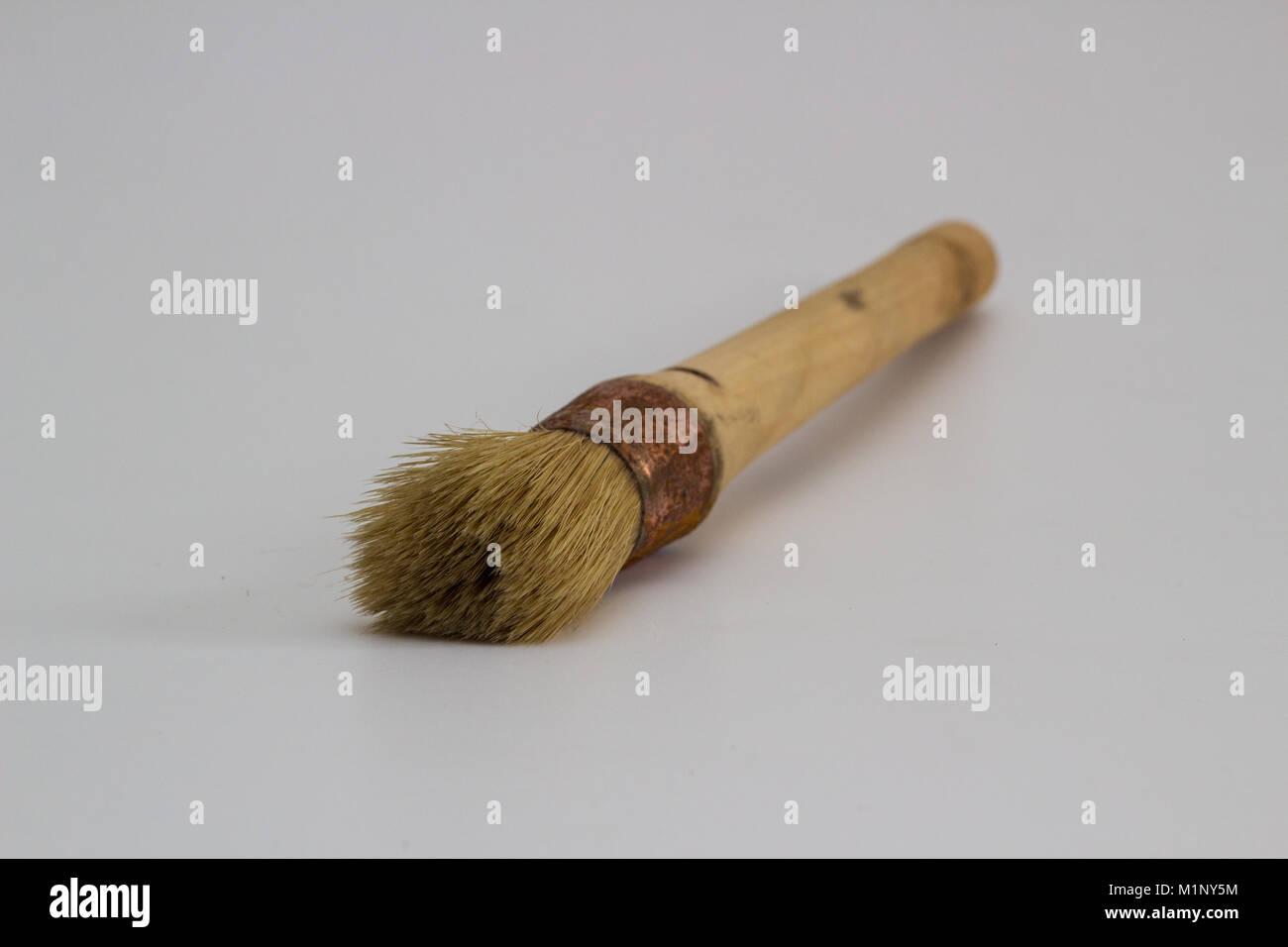 paint brush against white background Stock Photo