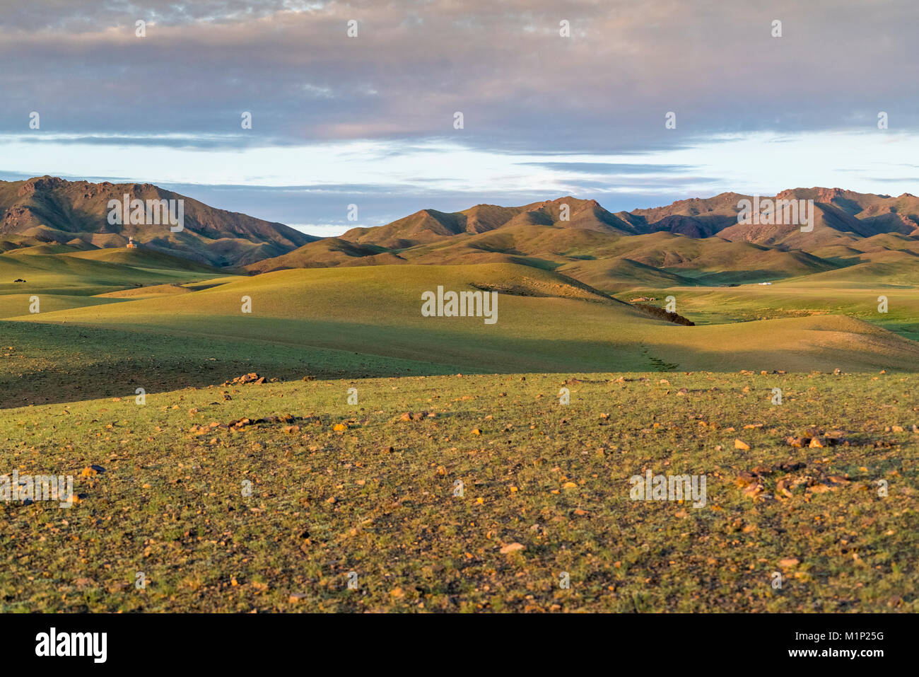 Hills and mountains, Bayandalai district, South Gobi province, Mongolia, Central Asia, Asia - Stock Image