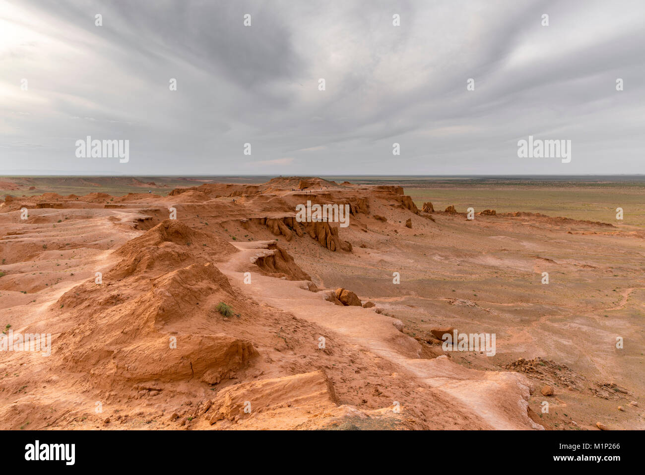 Flaming cliffs, Bajanzag, South Gobi province, Mongolia, Central Asia, Asia - Stock Image