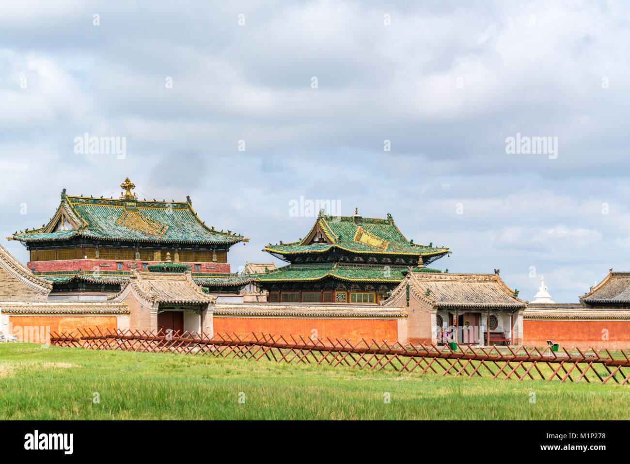 Temples in Erdene Zuu Monastery, Harhorin, South Hangay province, Mongolia, Central Asia, Asia Stock Photo