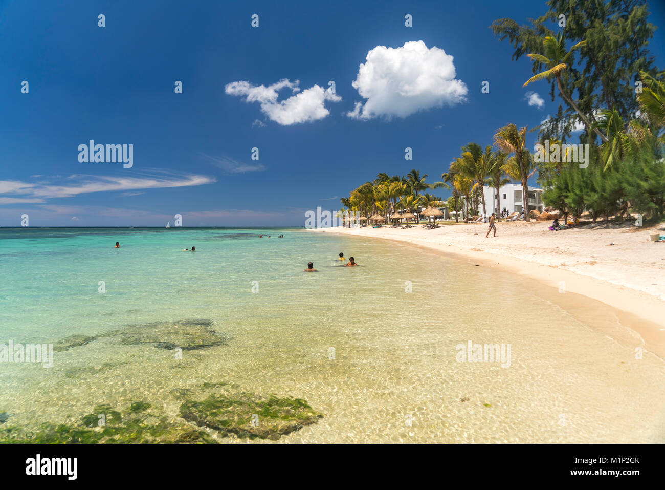 Dream beach at Turtle Bay,Mauritius - Stock Image