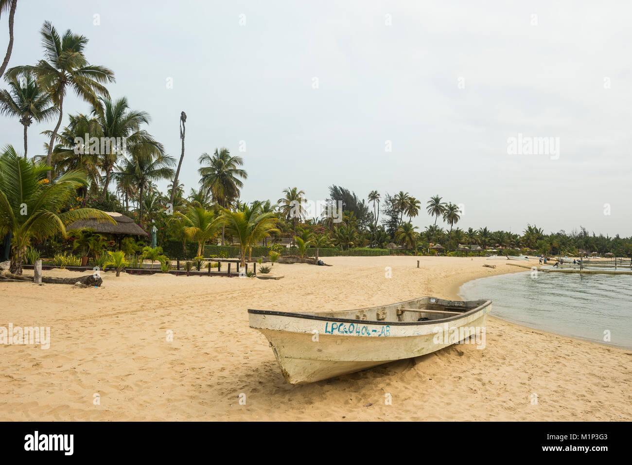 Long beach on Mussulo island, Luanda, Angola, Africa - Stock Image