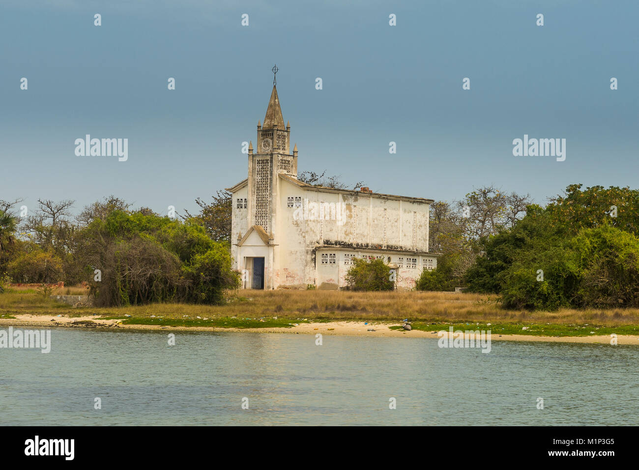 Church on Mussulo island, Luanda, Angola, Africa - Stock Image