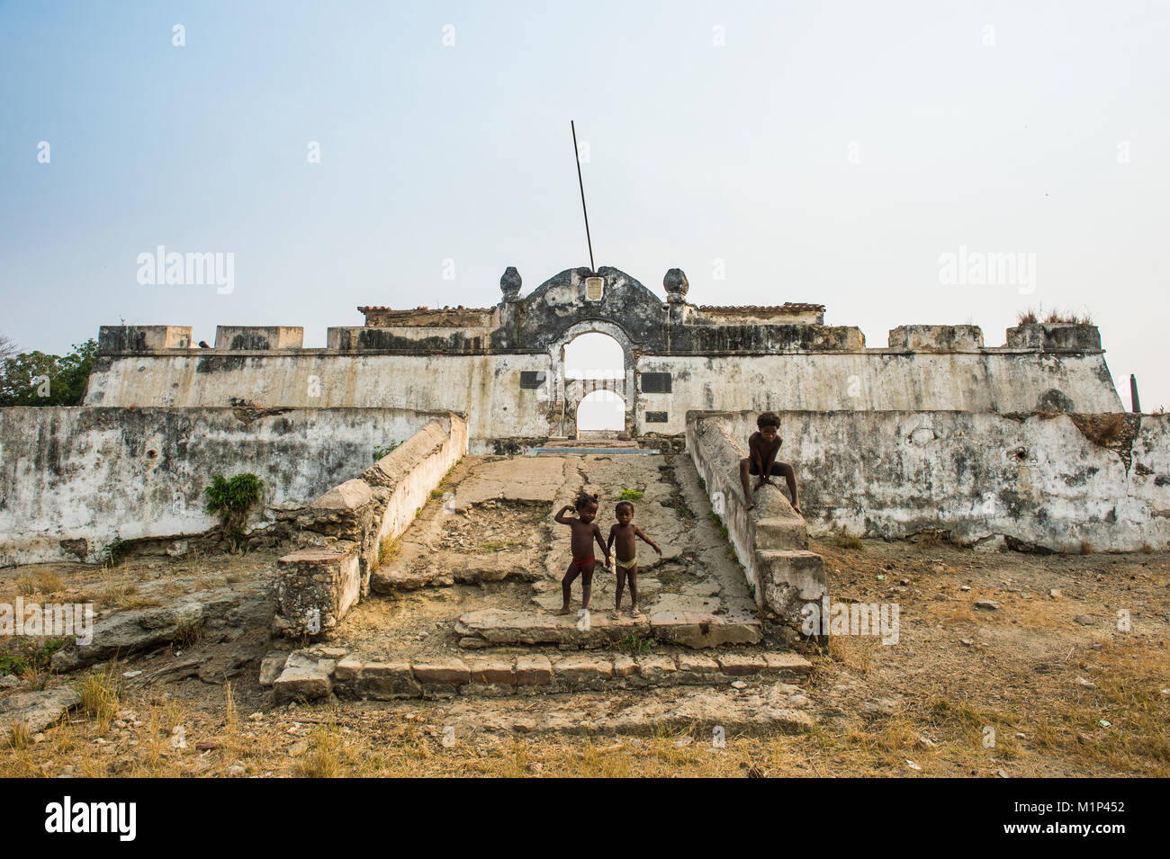 The fortress of Massangano, Cuanza Norte, Angola, Africa - Stock Image