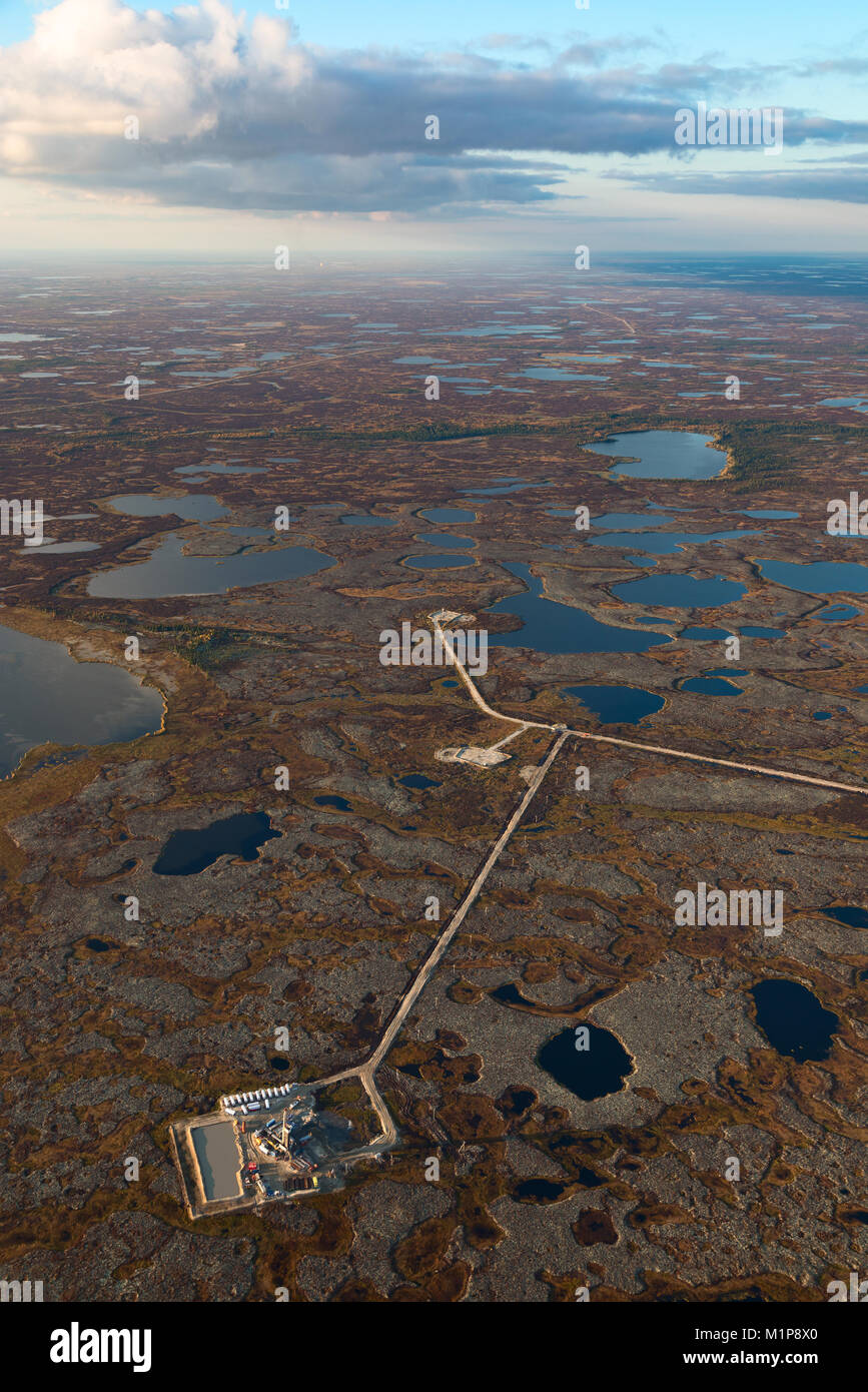 Oil field, top view - Stock Image