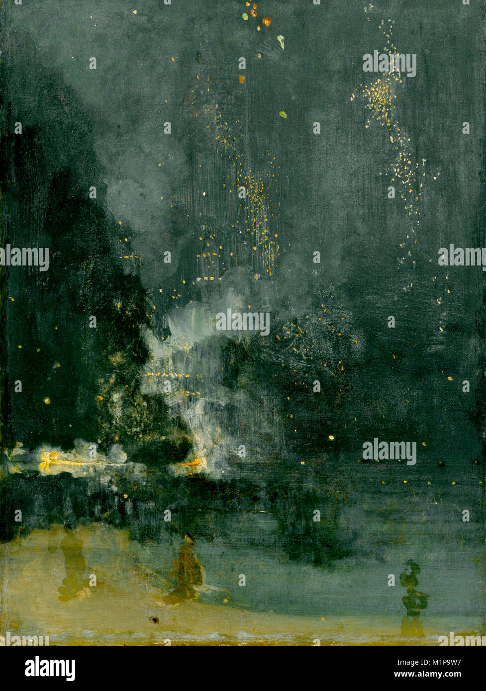 Nocturne in Black and Gold: The Falling Rocket (1874), by James Abbott McNeill Whistler - Stock Image