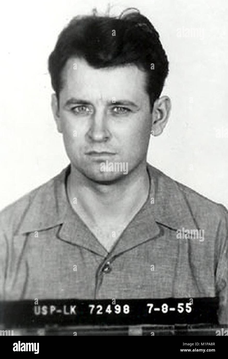 James Earl Ray (1928 –1998) convicted criminal who pleaded guilty to the murder of Martin Luther King Jr. on April 4, 1968 in Memphis, Tennessee Stock Photo
