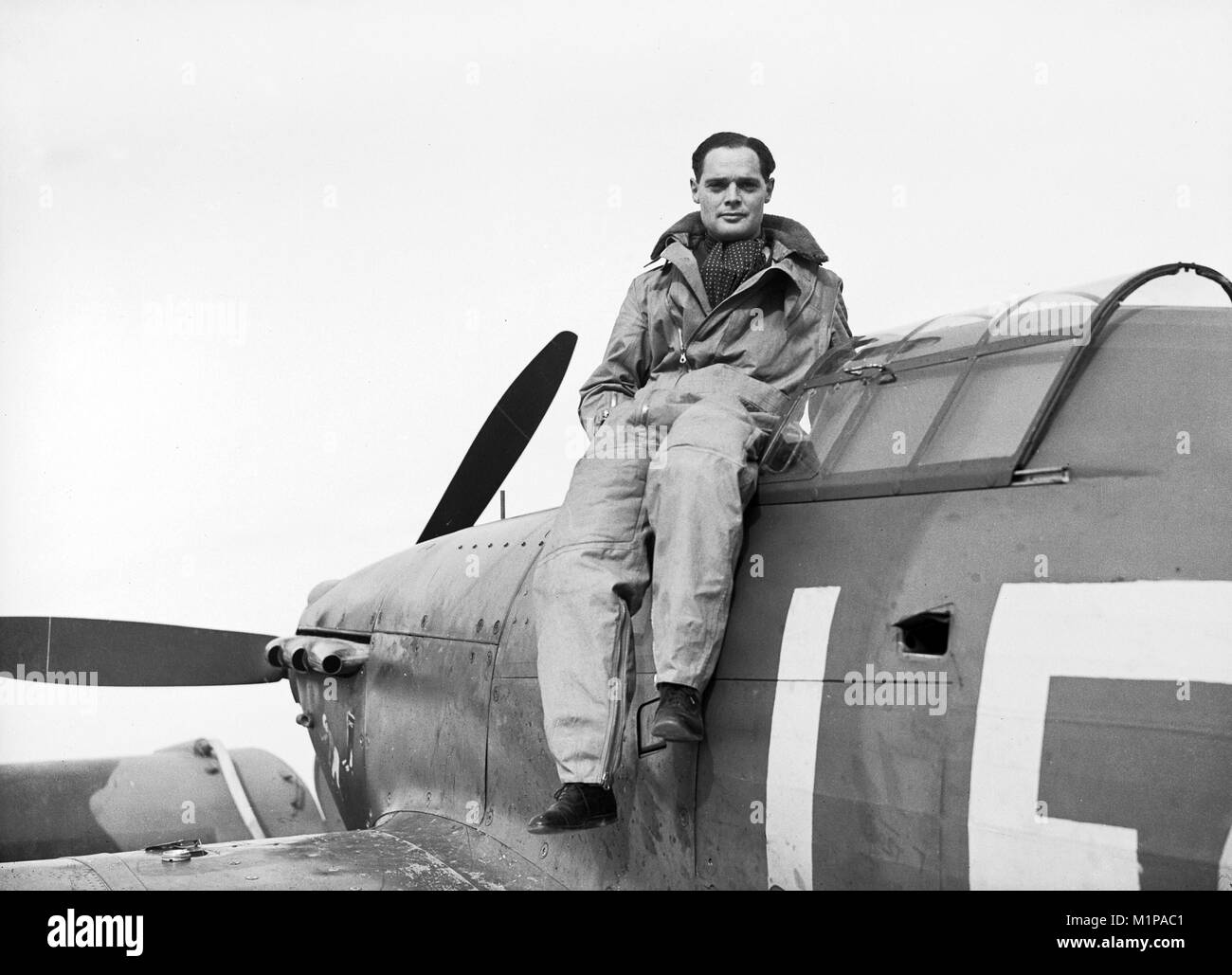 Group Captain Sir Douglas Robert Steuart Bader, (1910 – 1982) Royal Air Force flying ace during the Second World - Stock Image