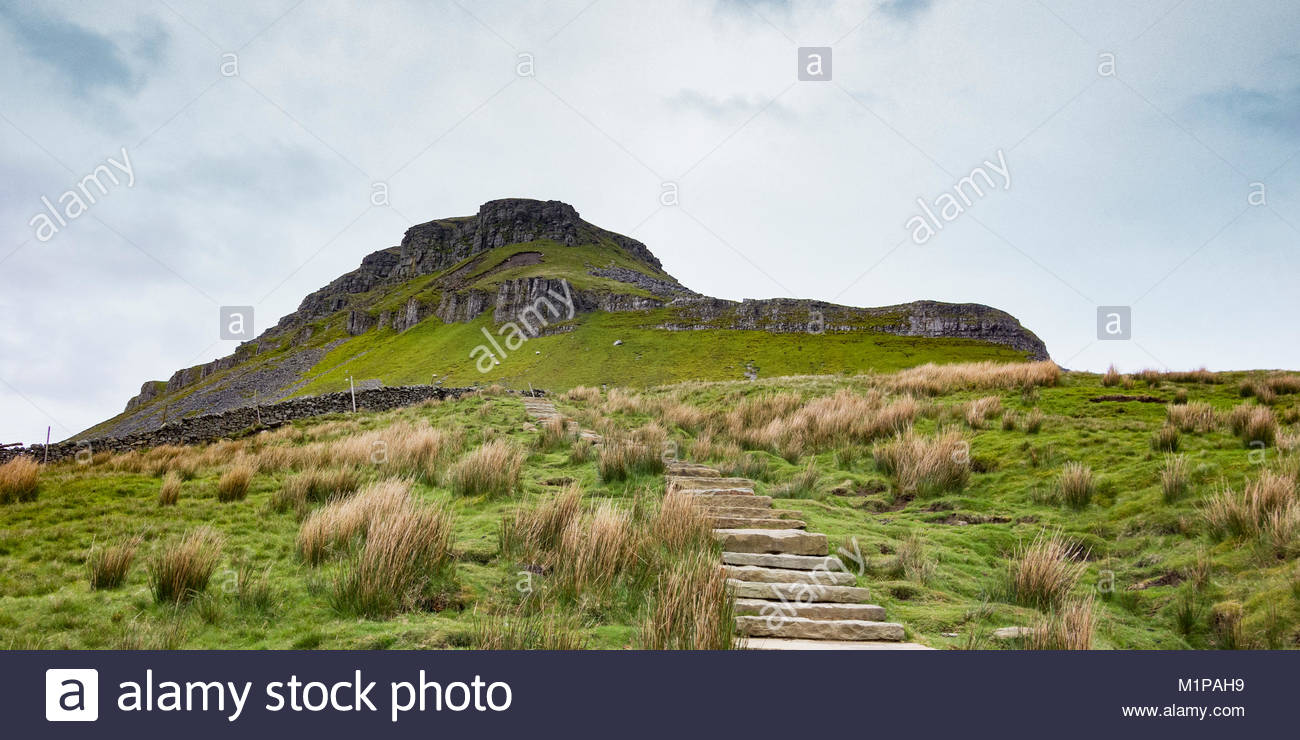 Pen y Ghent, one of the Yorkshire Three Peaks, near to Horton in Ribblesdale in the Yorkshire Dales - Stock Image